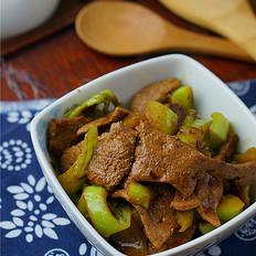 猪肝芥菜小炒