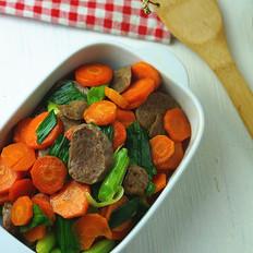 肉丸片炒胡萝卜