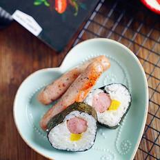 罗勒香肠寿司