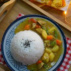 牛肉丸时蔬咖喱饭