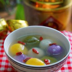 果蔬核桃红枣汤圆