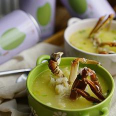 鲜米鱼丸蟹粥