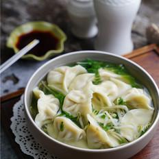 豆芽青菜汤饺