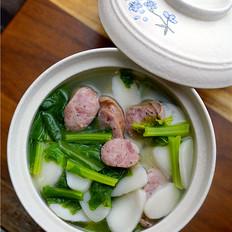 香肠春菜汤饭