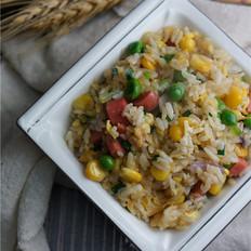 青豆玉米蛋炒饭