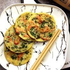 河虾芹菜蛋饼