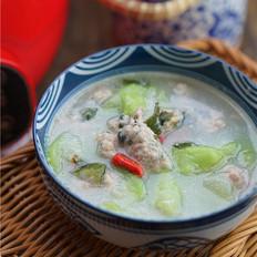 丝瓜肉丸鲜汤