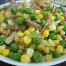 豌豆玉米炒鸡肉