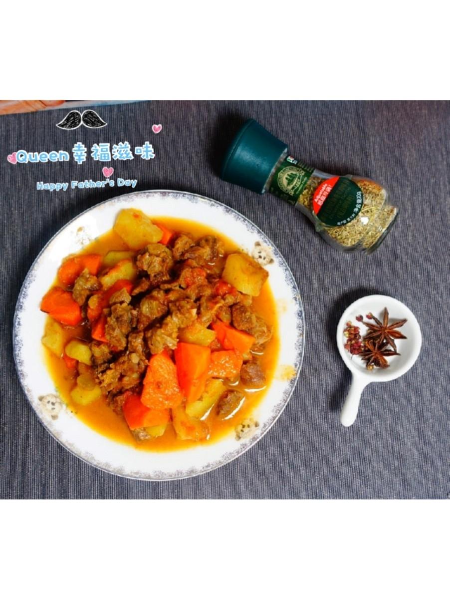 红烧胡萝卜土豆番茄牛肋条