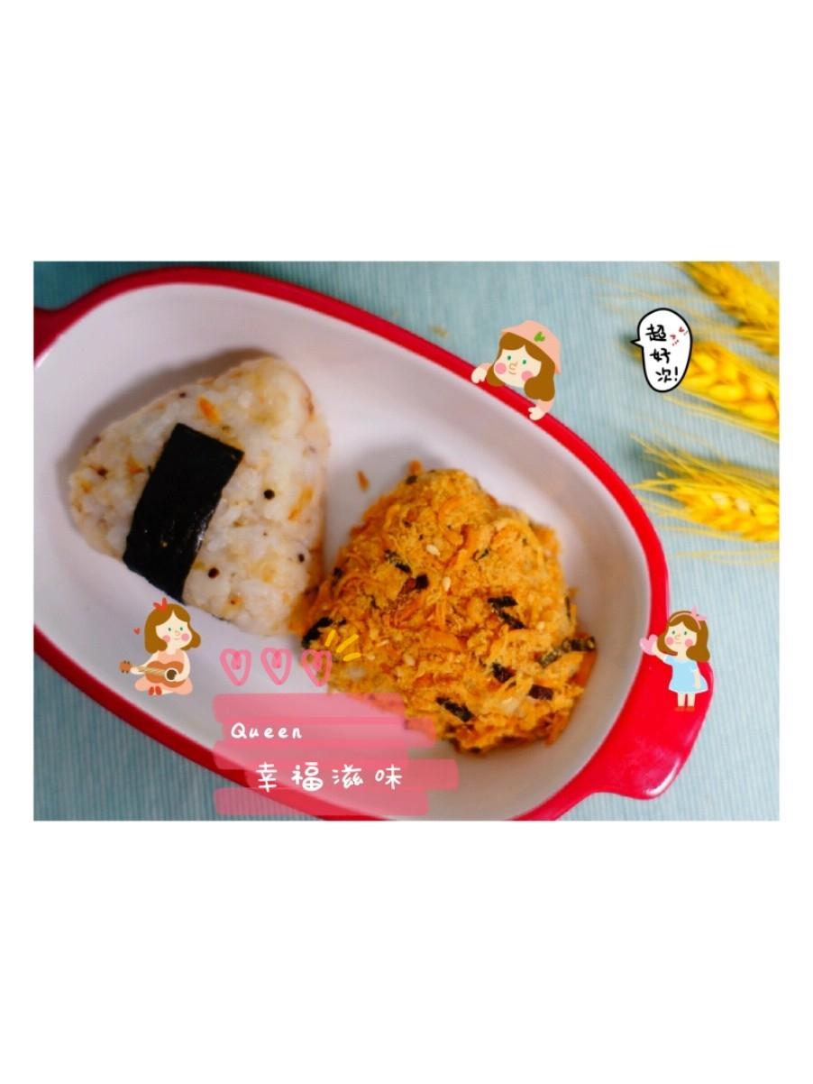 懒人肉松海苔饭团