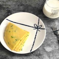 快手早餐~葱花鸡蛋饼