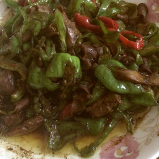 青椒炒鸡杂