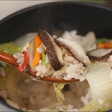 蘑菇石锅饭