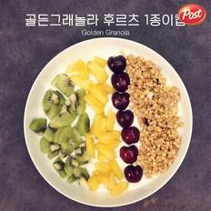 金色格兰诺拉麦片水果