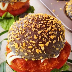 黄金鸡肉汉堡