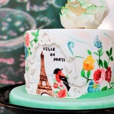 手绘翻糖蛋糕