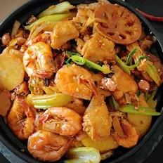 香辣翅虾干锅