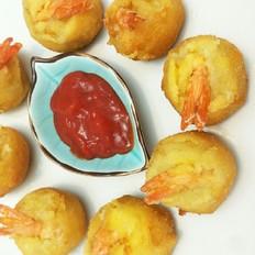 香酥土豆虾球
