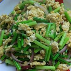 蒜苔炒鸡蛋