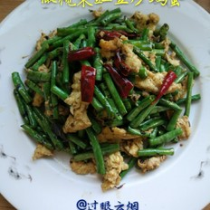 橄榄菜豇豆炒鸡蛋