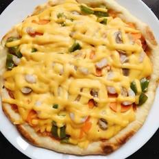 平底锅版海鲜披萨