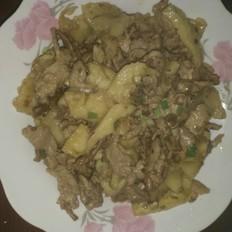 红薯粉皮炒肉