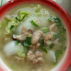 白菜蘑菇肉汤(莆田做法)