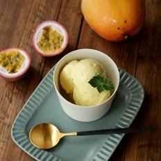 百香芒果冰淇淋的做法