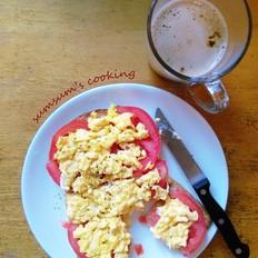 番茄鸡蛋脆包