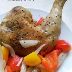 黑椒洋葱烤鸡腿