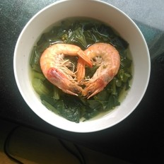 海虾青菜汤