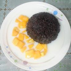 芒果椰汁黑米露