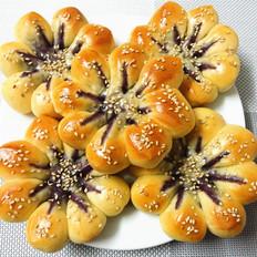 紫薯菊花面包