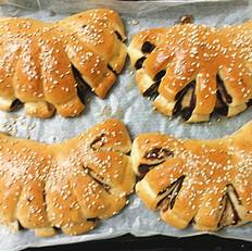 豆沙扇形面包