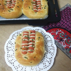 玉米火腿肠面包