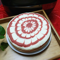 红曲拉花香草蛋糕