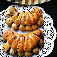 紫薯扇子面包