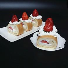 草莓奶油蛋糕卷