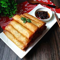 黄金万两-韭黄猪肉春卷