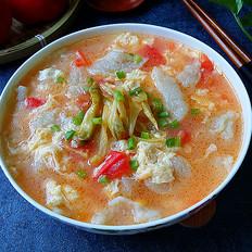 番茄鸡蛋疙瘩汤