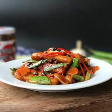 香菇豆豉辣酱炒年糕