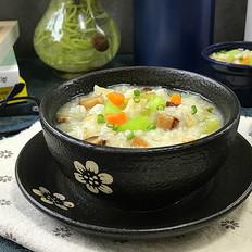 香菇狭鳕鱼蔬菜粥