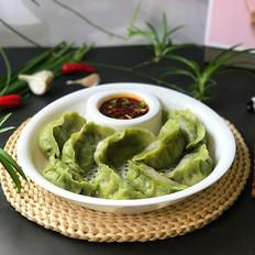 韭菜鸡蛋粉条双色水饺
