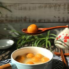 南瓜豆沙汤圆