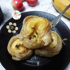 花生酱香蕉酥的做法