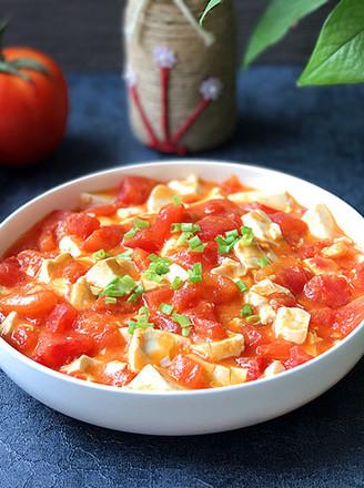 蟹黄豆腐烩番茄的做法