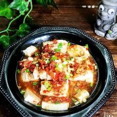 辣椒酱蒸豆腐