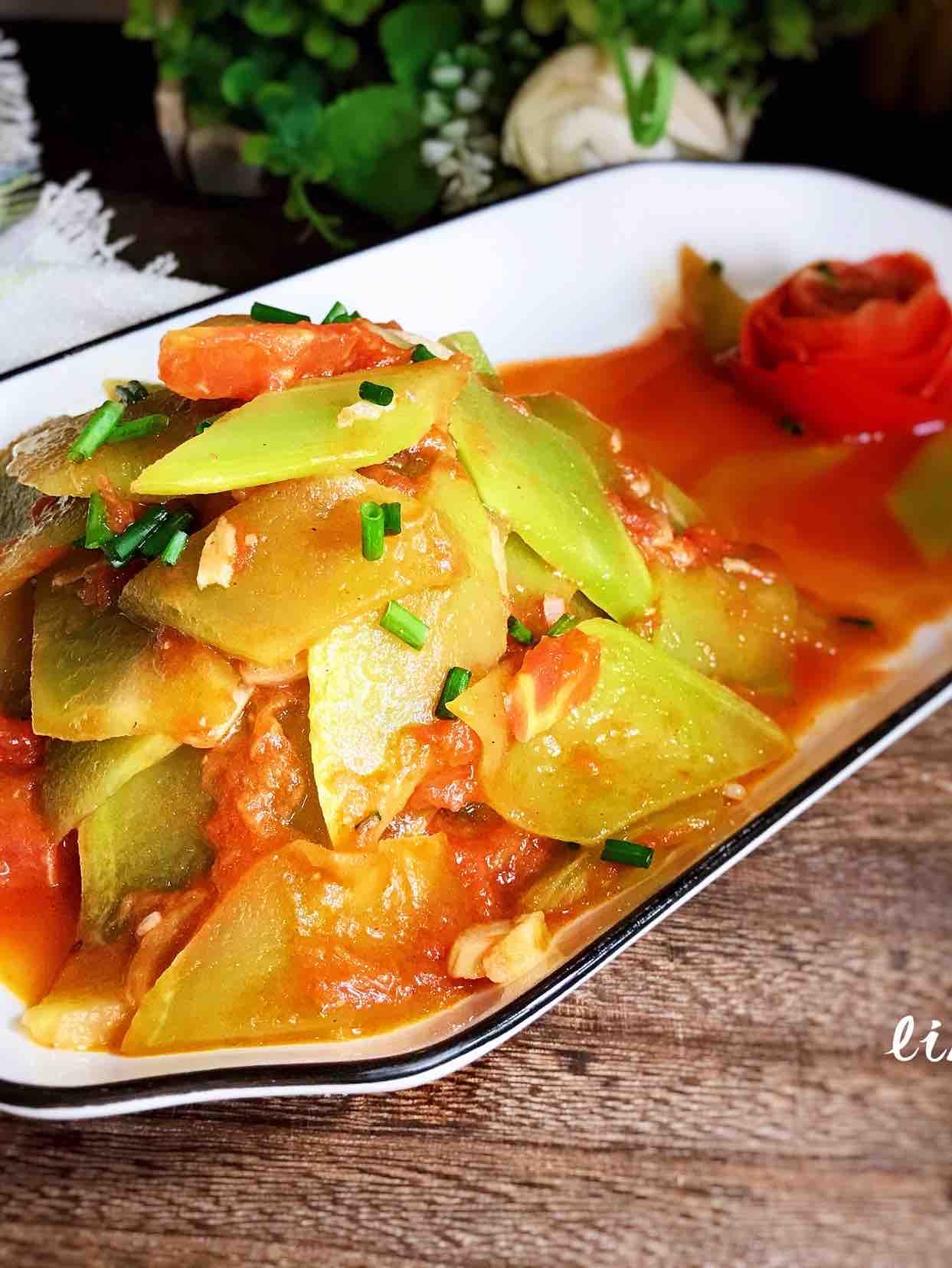 番茄炒莴笋的做法