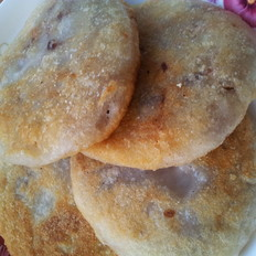 花芸豆馅的糯米饼