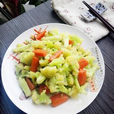 清炒花菜的做法